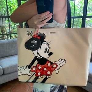 KATE SPADE MINNIE MOUSE FRANCIS TOTE DISNEY CANVAS